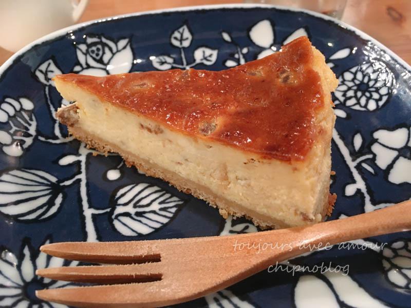 干し柿のベイクドチーズケーキ
